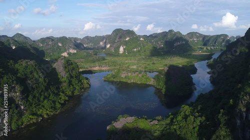 Mountain and River Flycam 4k