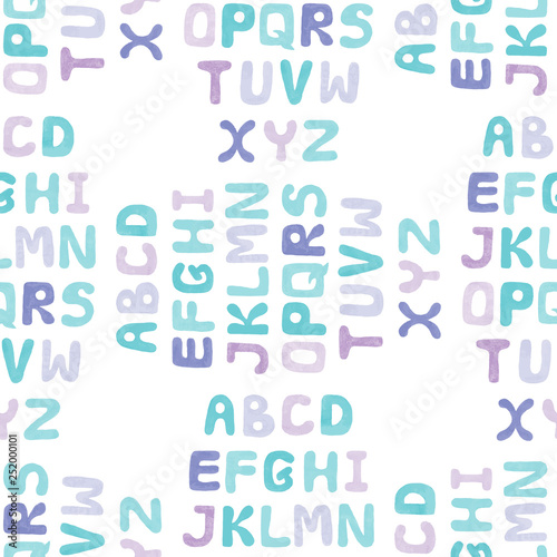 mata magnetyczna Nursery seamless pattern with Alphabet letters
