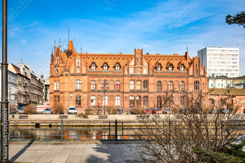 Bydgoszcz / Poland - the old town architecture on a sunny winter day. - 252014974