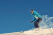 Leinwanddruck Bild - Girl / Woman / Female On the Ski