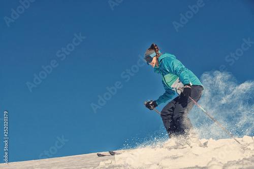 Leinwanddruck Bild Girl / Woman / Female On the Ski