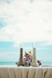 beach wedding and decoration.