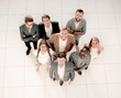 Leinwanddruck Bild - top view.a group of successful young people