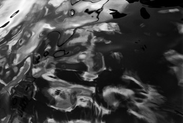 Black and White Water Abstract no5