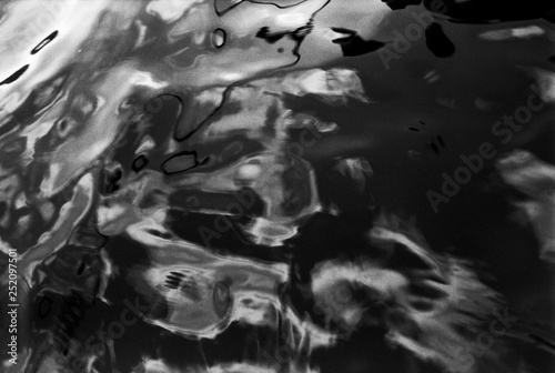 Black and White Water Abstract no5 © Marko