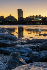 Albany skyline on the Hudson River © blanchardimage