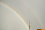 Fototapeta Tęcza - arco iris tormenta de verano  © andromedicus