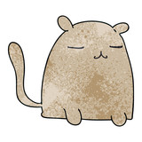 quirky hand drawn cartoon cat