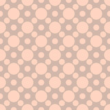 Colorful round seamless pattern. Dotted background. Vector illustration. - 252131903