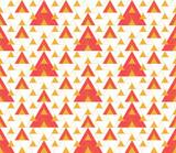 Triangular seamless geometric pattern. Seamless abstract triangle geometrical background. Modern Infinity geometric pattern. Vector illustration. - 252133145
