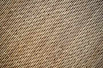 Close up bamboo wooden background. © dekzer007