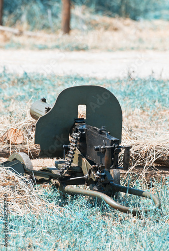 Machine gun of World War II, industrial style © vrabelpeter1