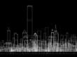 Skyscrapers Concept Architect Blueprint  - 252191729