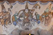 """Постер, картина, фотообои """" Fresque du temple de Thanjavur en Inde du Sud"""""""