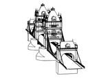 Fototapeta Londyn - London bridge sketch vector © Dzmitry