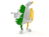 Ireland character pointing finger