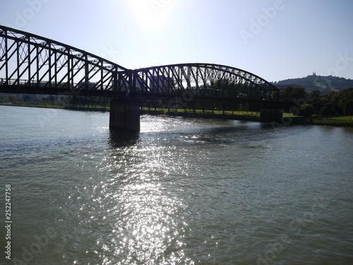 obraz lub plakat railway bridge, linz, upper austria