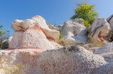Complex of rock formations called Stone Wedding, located near the city of Kardzhali in Bulgaria
