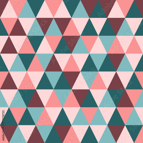 obraz PCV Seamless vector pattern. Abstract triangle geometric background.
