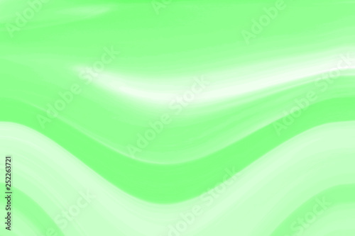 Leinwandbild Motiv Green UFO neon background for packaging template or wallpaper. The texture of the marble fashion hue with stripes waves and divorces.
