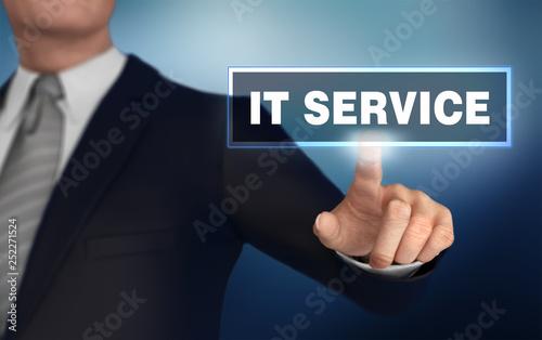 it service   pushing concept 3d illustration