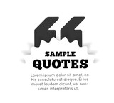 Quote blank template on white background. Vector