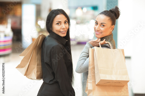 Mature African women at the mall together