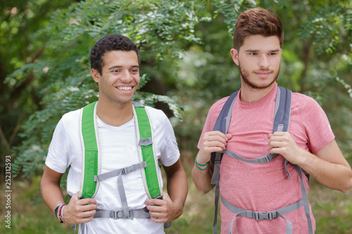 picture of two young male hikers © auremar