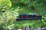 Model railway and engine.