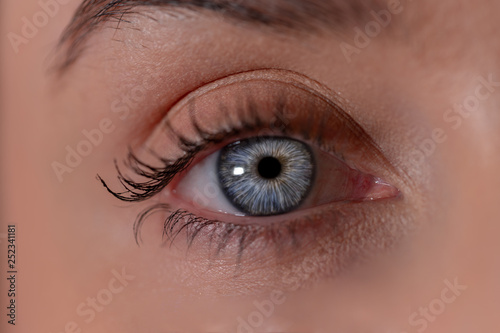 eye female closeup - 252341181