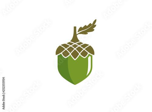 hazelnut dry fruit food a seed for logo design - 252355934