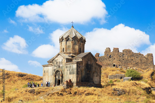 Armenia, Church of the 11th century St. Astvatsatsin (Holy Mother of God) and the fortress Amberd - 252385171