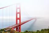 Golden Gate Bridge view at foggy day