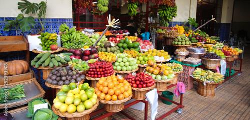 Leinwandbild Motiv Fruits exotiques - Funchal / madère (Mercado dos Lavradores)