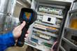 Leinwanddruck Bild - thermal imaging inspection of electrical equipment