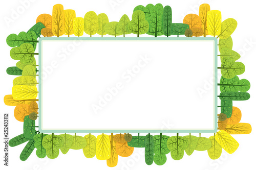 Autumn trees background. Vector illustration of abstract nature