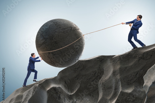 Concept of businessman with high determination - 252452595