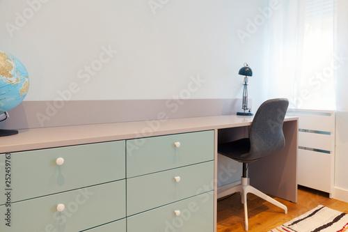 desk in the children's room