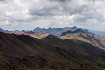 Vinicunca rainbow mountains in Peru
