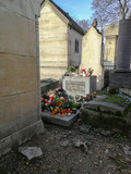 Grave of Jim Morrison at the Pere Lachaise Cemetery in Paris