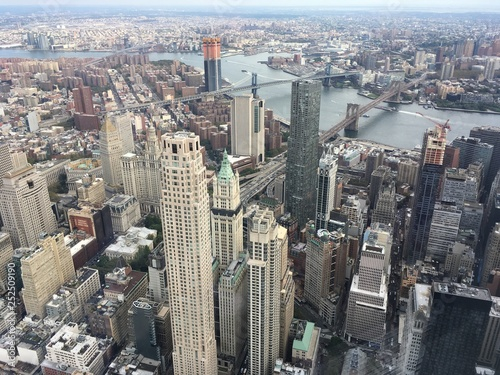 obraz PCV aerial view of new york city