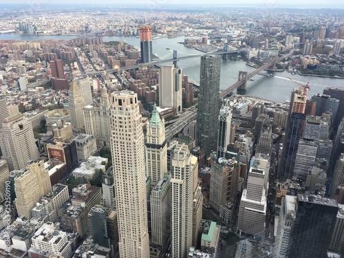 Foto Murales aerial view of new york city