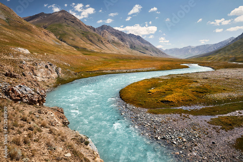 Leinwanddruck Bild Mountains of Kyrgyzstan