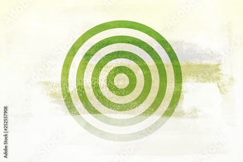 Green Circle Abstract Modern Art Tone Texture Art Background Pattern Design Graphic - 252557908