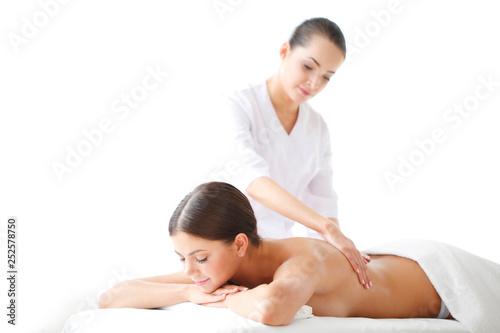 Woman getting massage © alotofpeople