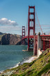 golden gate panorama, view of the golden gate from the bay, san francisco  united states