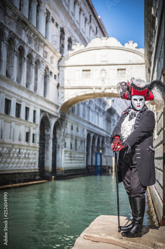 Costumes and masks for the Venice carnival 2019 - 252604990
