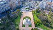 Aerial photo of statue of King Constantine of Greece in famous Park of Pedion Areos, Athens historic centre, Attica - 252613783