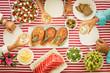 Mediterranean diet. Healthy eating concept. Top view