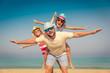 Family Summer Vacation Beach Sea